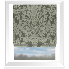Clarke and Clarke Colony Valentina Charcoal Roman Blind