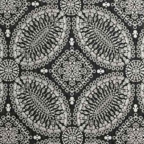 Clarke and Clarke BW1007 Black and White Curtain Fabric
