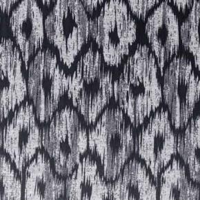 Clarke and Clarke BW1008 Black and White Curtain Fabric