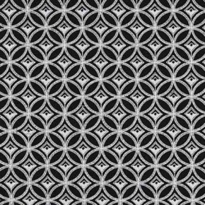 Clarke and Clarke BW1009 Black and White Curtain Fabric