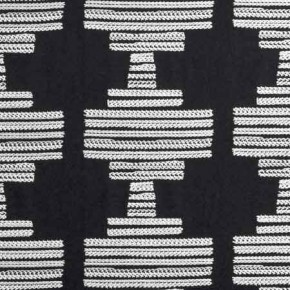 Clarke and Clarke BW1010 Black and White Curtain Fabric