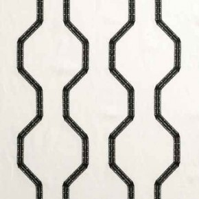 Clarke and Clarke BW1012 Black and White Curtain Fabric