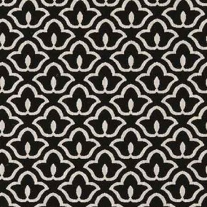 Clarke and Clarke BW1014 Black and White Curtain Fabric