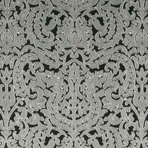 Clarke and Clarke BW1020 Black and White Curtain Fabric