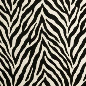 Clarke and Clarke BW1029 Black and White Curtain Fabric