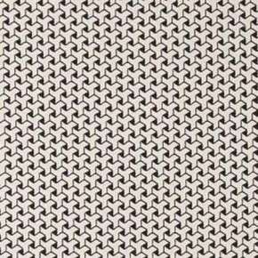 Clarke and Clarke BW1034 Black and White Curtain Fabric