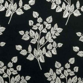 Clarke and Clarke BW1036 Black and White Curtain Fabric