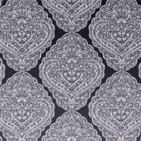 Clarke and Clarke BW1037 Black and White Curtain Fabric