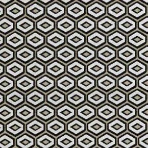 Clarke and Clarke BW1041 Black and White Curtain Fabric