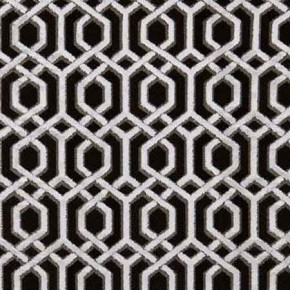 Clarke and Clarke BW1042 Black and White Curtain Fabric
