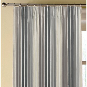 Clarke and Clarke Folia Albi Charcoal Made to Measure Curtains