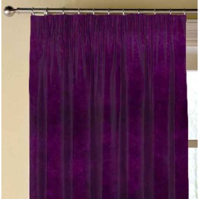 Clarke and Clarke Gustavo Alvar Plum Made to Measure Curtains