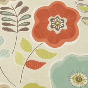 Clarke and Clarke Cariba Calypso Spice Curtain Fabric