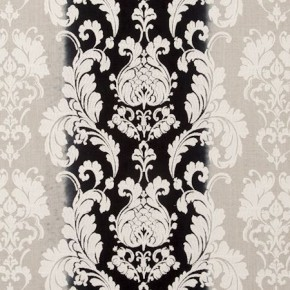 Traviata Camelia Raven Curtain Fabric
