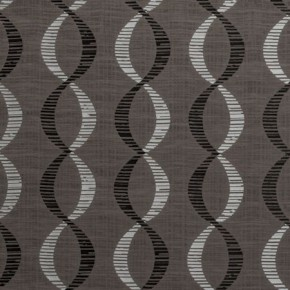 Clarke and Clarke Holland Park Campden Charcoal Curtain Fabric