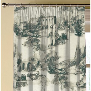 Clarke and Clarke Colony Anastacia Charcoal Made to Measure Curtains