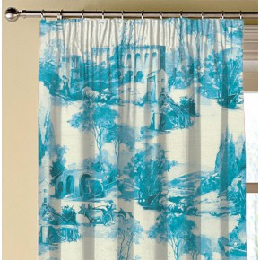 Clarke and Clarke  Colony Anastacia Delft Made to Measure Curtains
