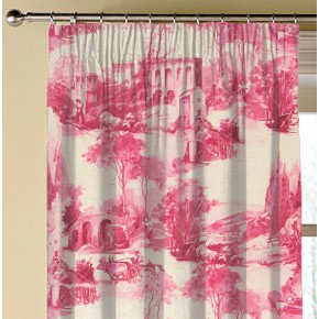 Clarke and Clarke  Colony Anastacia Raspberry Made to Measure Curtains