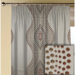 Prestigious Clarke Cosmopolitan Arabesque Redwood Made to Measure Curtains