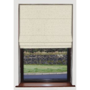 Clarke and Clarke Casanova Cream Roman Blind