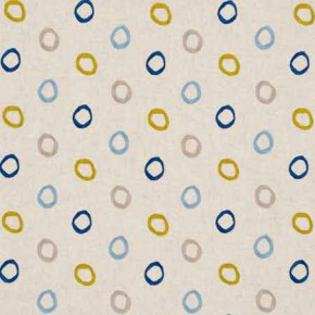 Clarke and Clarke Gustavo Casper Indigo Curtain Fabric