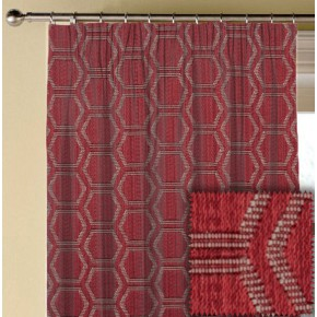 Prestigious Textiles Eden Avena Cranberry Made to Measure Curtains
