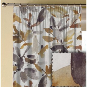Prestigious Textiles Iona Azzuro Umber Made to Measure Curtains