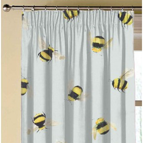 A Village Life  Bees  Duckegg Made to Measure Curtains