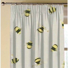 A Village Life  Bees  Taupe  Made to Measure Curtains