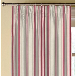 Clarke and Clarke Genevieve Belle Raspberry Made to Measure Curtains