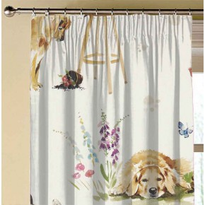 A Village Life  Best Of Friends  Cream  Made to Measure Curtains