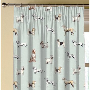 Clarke and Clarke Blighty Best Of Show Duckegg Made to Measure Curtains