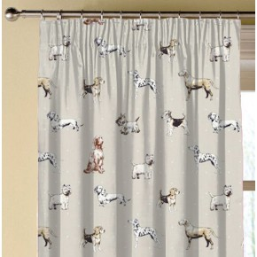 Clarke and Clarke Blighty Best Of Show Natural Made to Measure Curtains