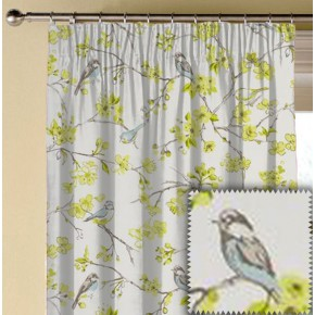 Clarke and Clarke Garden Party Birdies Citrus Made to Measure Curtains