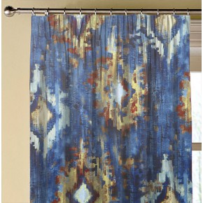 A Prestigious Textiles Decadence Bohemia Sapphire Made to Measure Curtains