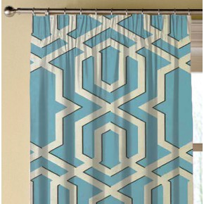 Clarke and Clarke Chateau Boulevard Aqua Made to Measure Curtains
