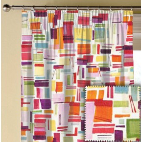 Clarke and Clarke Artbook Brooklyn Linen Multi Made to Measure Curtains