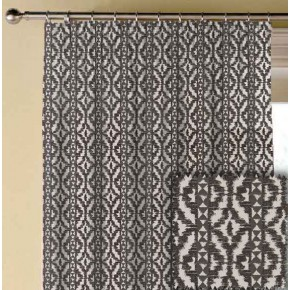 Clarke and Clarke BW1005 Black and White Made to Measure Curtains