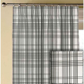 Clarke and Clarke BW1006 Black and White Made to Measure Curtains