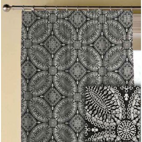 Clarke and Clarke BW1007 Black and White Made to Measure Curtains