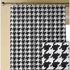 Clarke and Clarke BW1011 Black and White Made to Measure Curtains