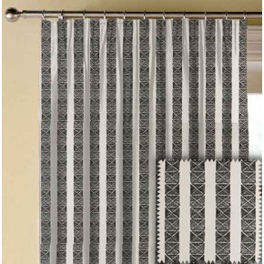 Clarke and Clarke BW1013 Black and White Made to Measure Curtains