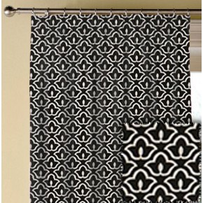 Clarke and Clarke BW1014 Black and White Made to Measure Curtains