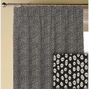 Clarke and Clarke BW1015 Black and White Made to Measure Curtains