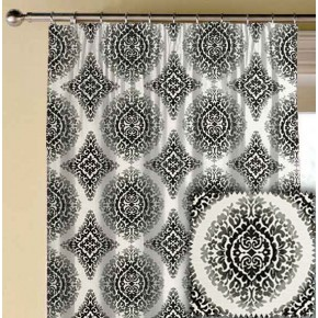 Clarke and Clarke BW1024 Black and White Made to Measure Curtains