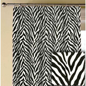 Clarke and Clarke BW1029 Black and White Made to Measure Curtains