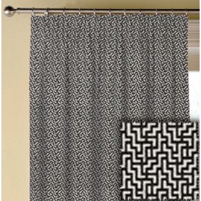 Clarke and Clarke BW1030 Black and White Made to Measure Curtains
