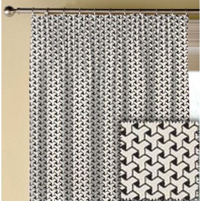Clarke and Clarke BW1034 Black and White Made to Measure Curtains
