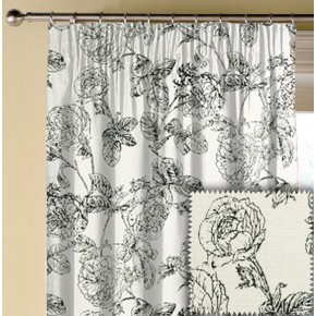 Clarke and Clarke BW1035 Black and White Made to Measure Curtains