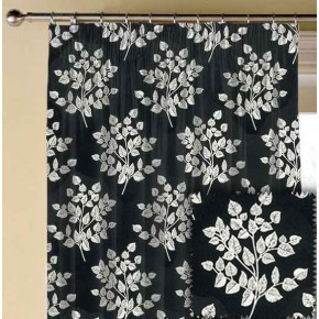 Clarke and Clarke BW1036 Black and White Made to Measure Curtains